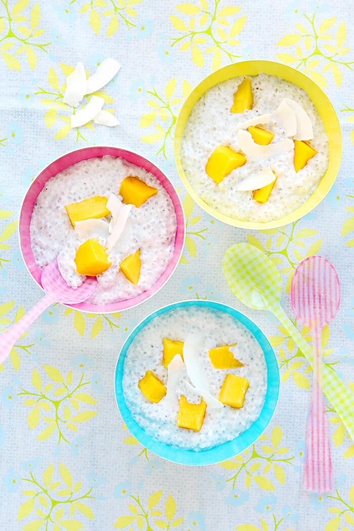 Kokos-Mango-Chaiseed-Pudding