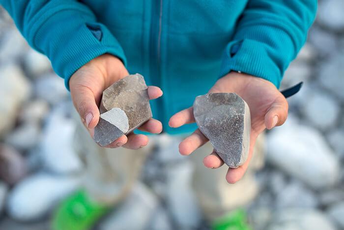 broken stone
