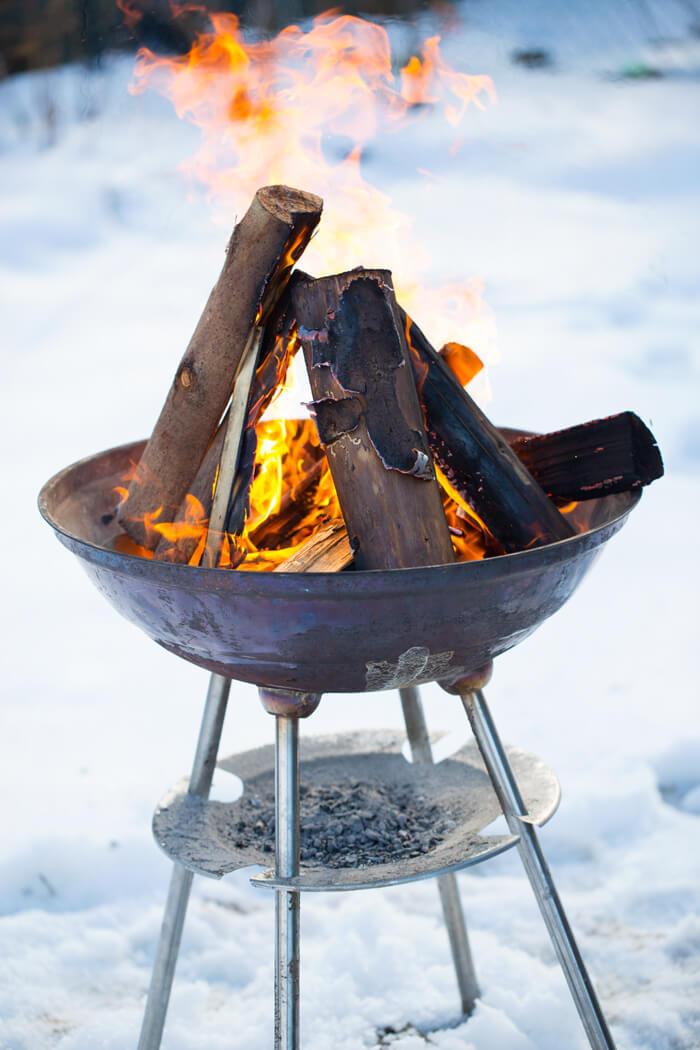 fire in wintertime