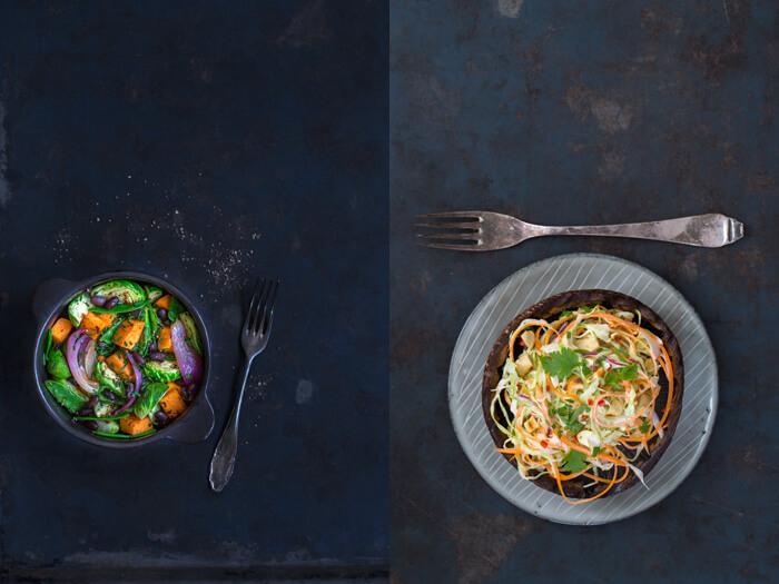 Gemüseeintopf und Portobello