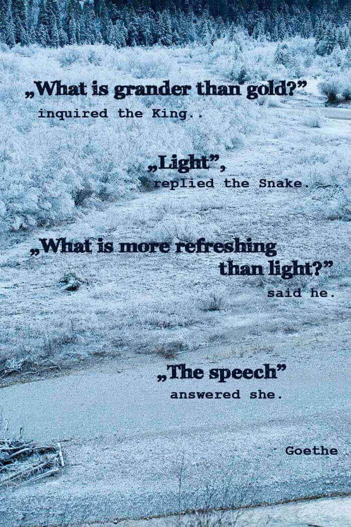 Poem Goethe